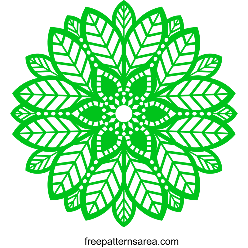 Circle Leaf Mandala Pattern Free Svg File
