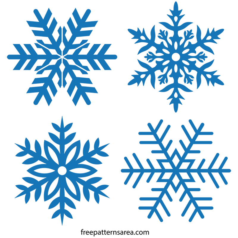 Free Snowflake Clipart Illustration Transparent SVG