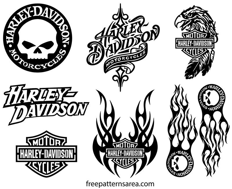 Harley Davidson Logo Symbol Font Vector Designs
