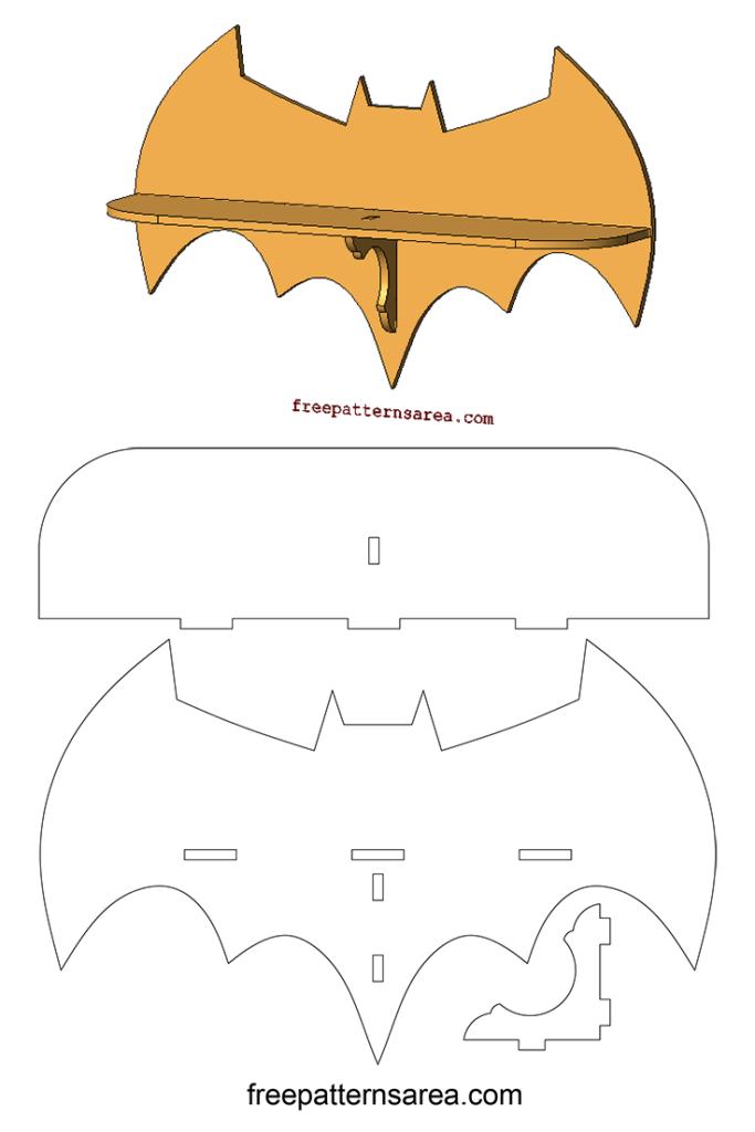 Laser Cutting Batman Wall Shelf Woodworking Plan ...