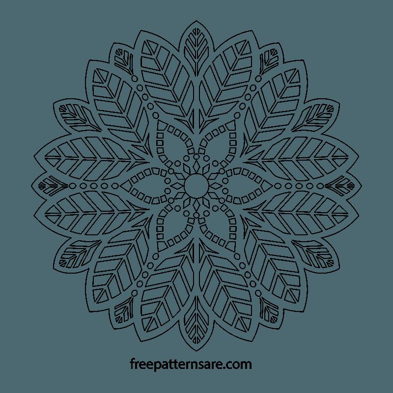 Leaf Ornament Mandala Pdf Pattern