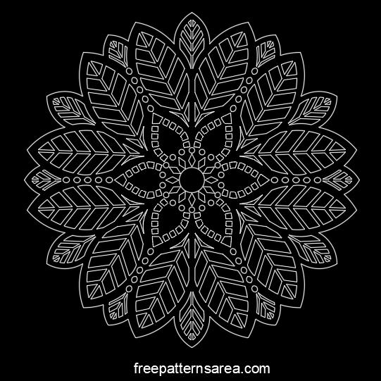Mandala Free Dxf Vector Freepatternsarea