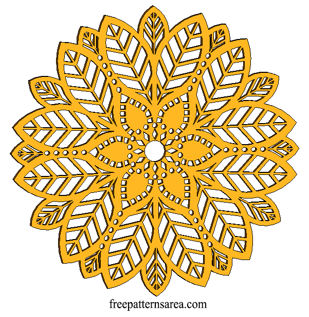 Wood Leaf Ornament CNC Laser Cut Desing