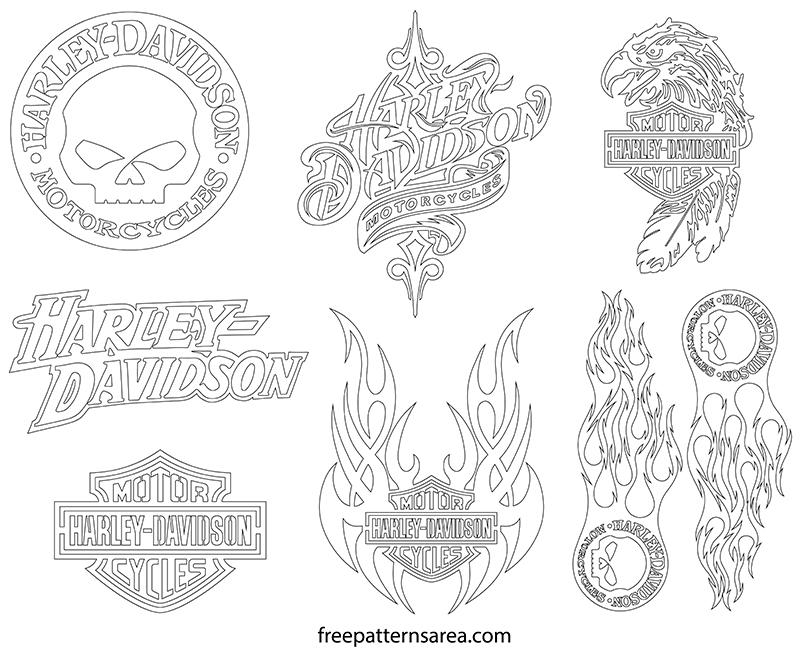 Printable Harley Davidson Outline Template Drawings