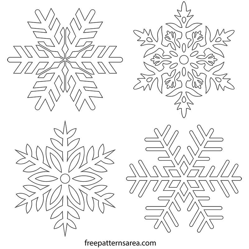 picture regarding Snowflake Printable identify Free of charge Snowflake Stencil Vector FreePatternsArea