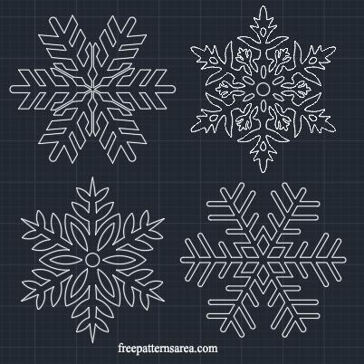 Snowflake Ornament Cutter Template Freepatternsarea
