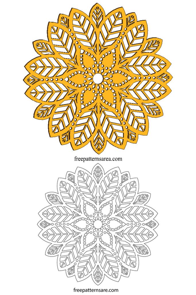 Wood Mandala Pdf Cut Template