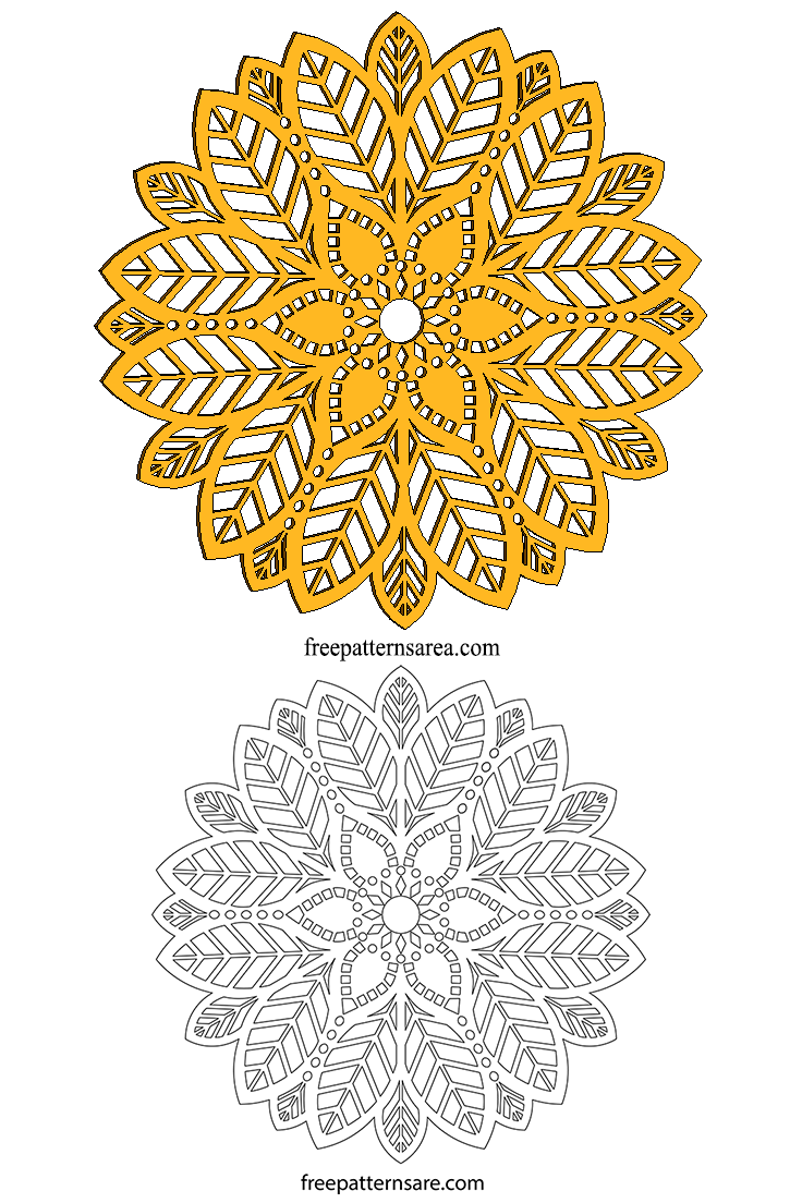 Wood Mandala Pdf Laser Cutter Template