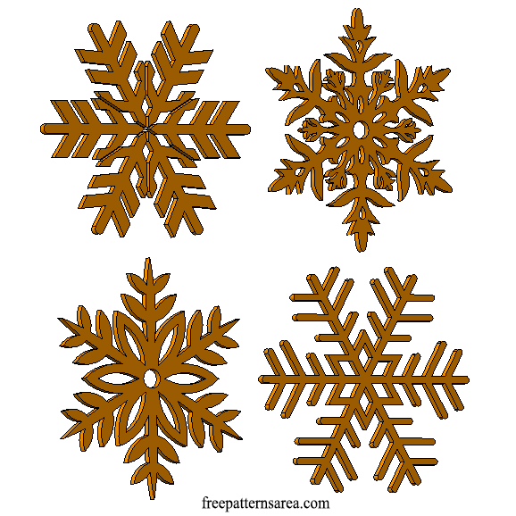 Wooden Snowflake Ornament Image