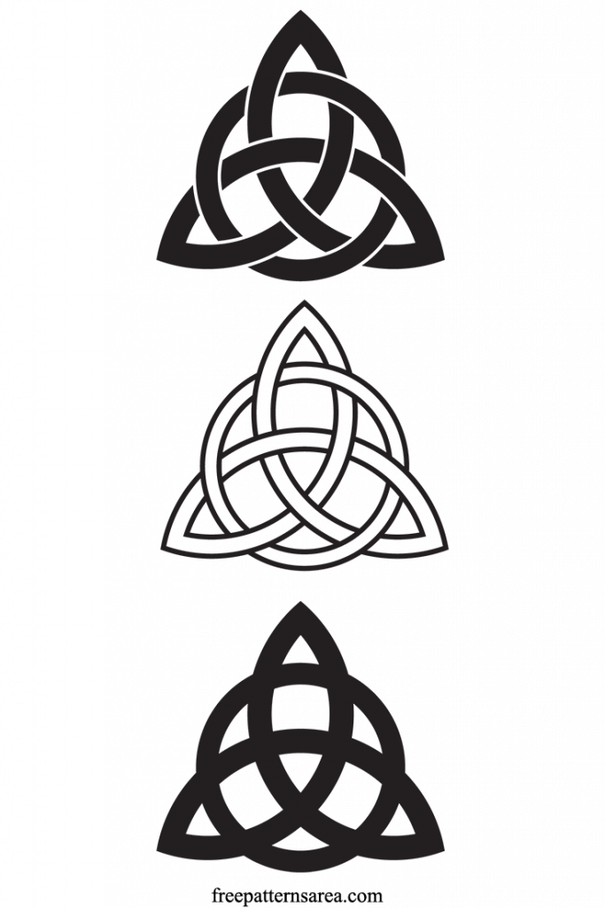 Celtic Trinity Knot Charmed Symbol Patterns