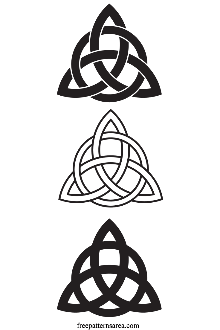 Celtic Trinity Knot Charmed Symbol Vector
