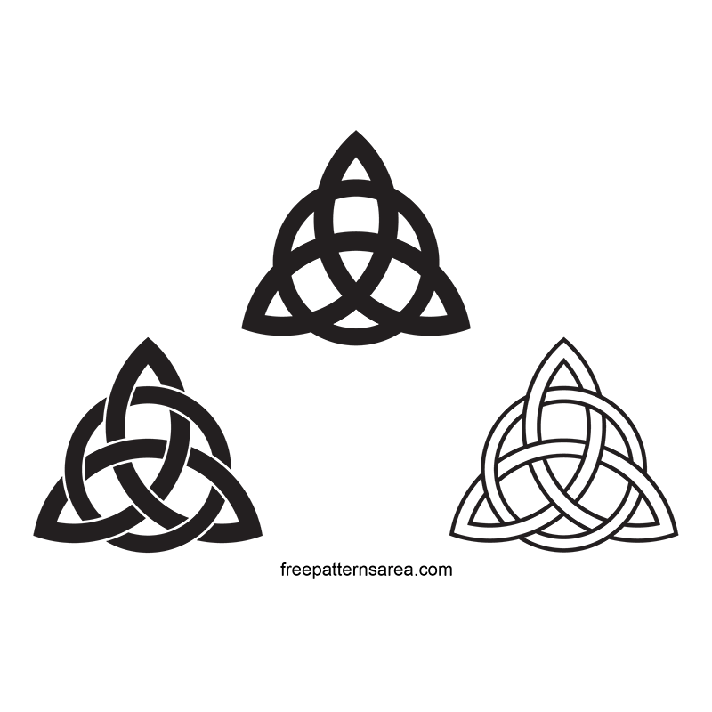 Celtic Triquetra Symbol Jewelry Vector Desings