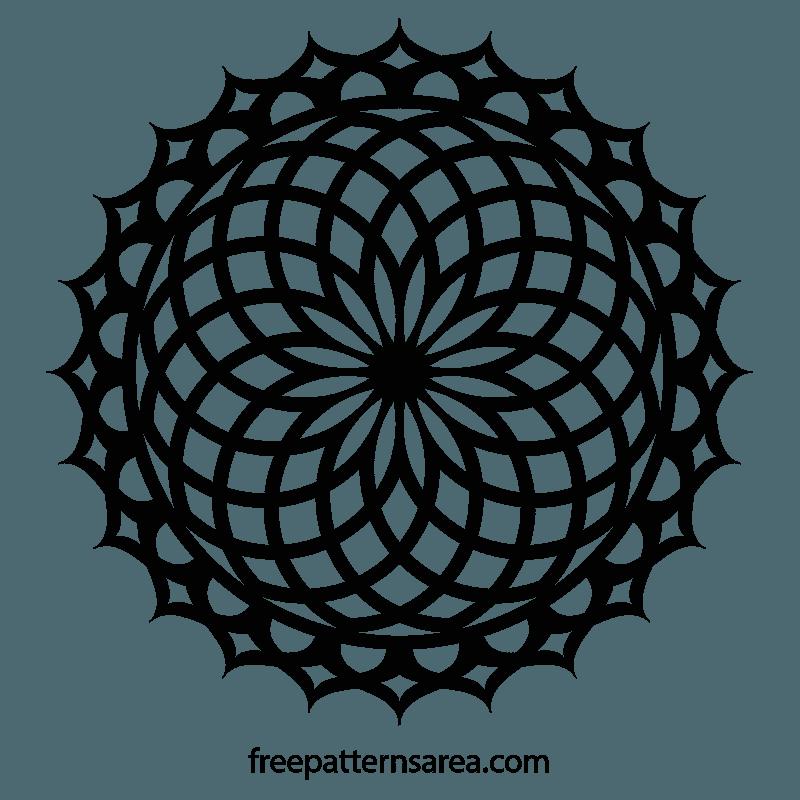 Geometric Lotus Mandala Ornament Vector Desing