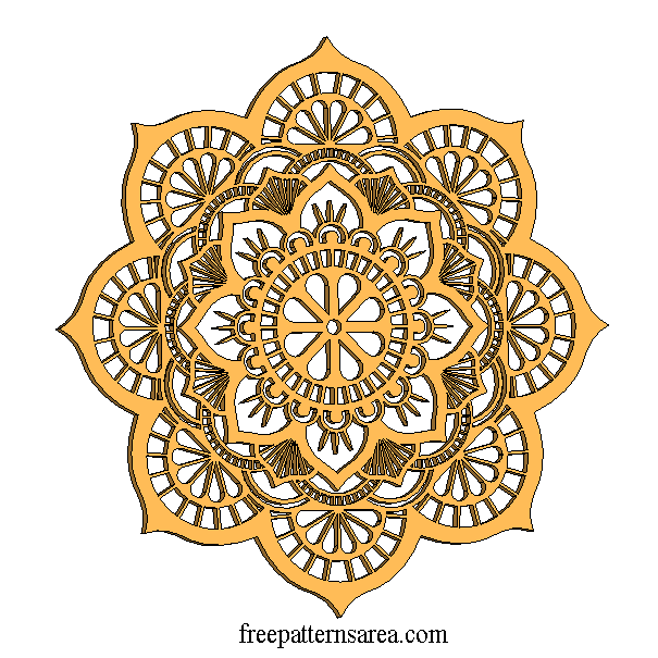 CNC Laser Cut Wood Wall Art Decor 3D Mandala Pattern