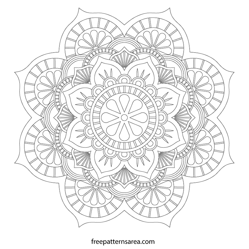 Lotus Mandala Vector Art Pattern Files Freepatternsarea
