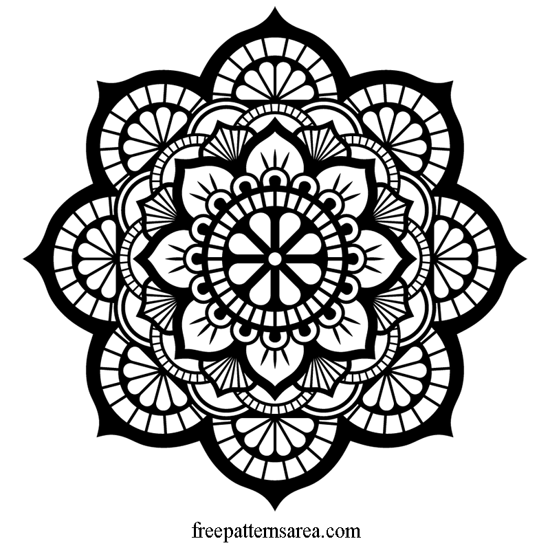 Lotus Mandala Vector Art and Cut Out Pattern Files