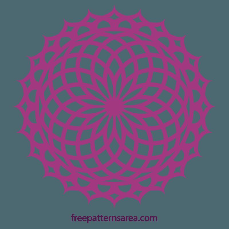 Geometric Lotus Doily Mandala Svg