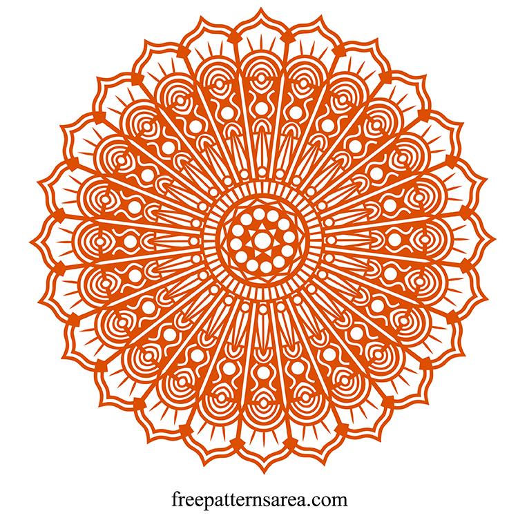 Free Mandala Svg Cricut Clip Art Image