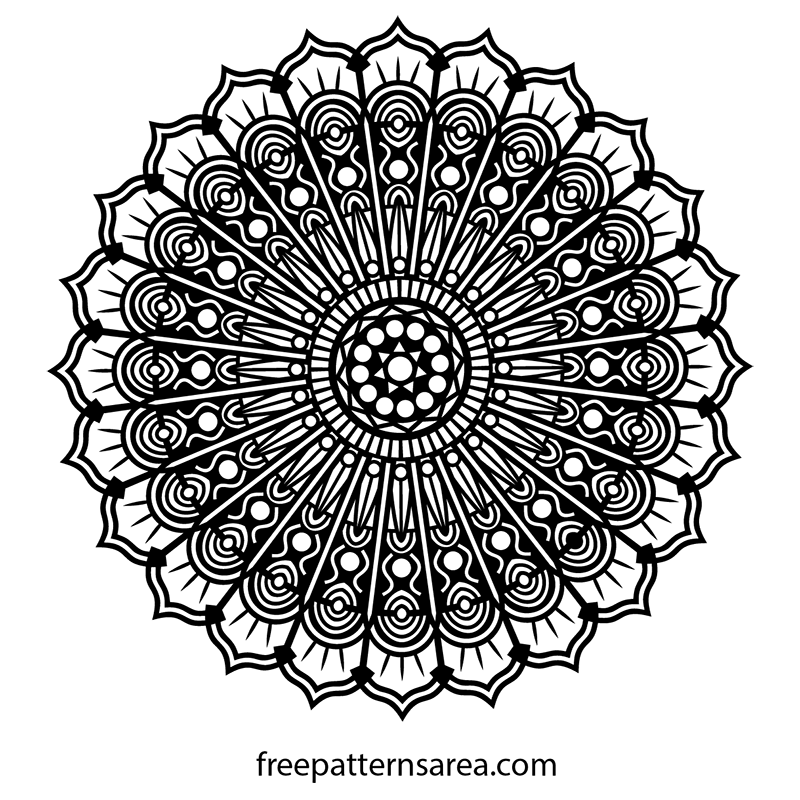 Free Printable Mandala Stencil Art Drawing