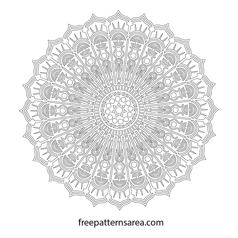 Free Printable Cut Out Mandala Template