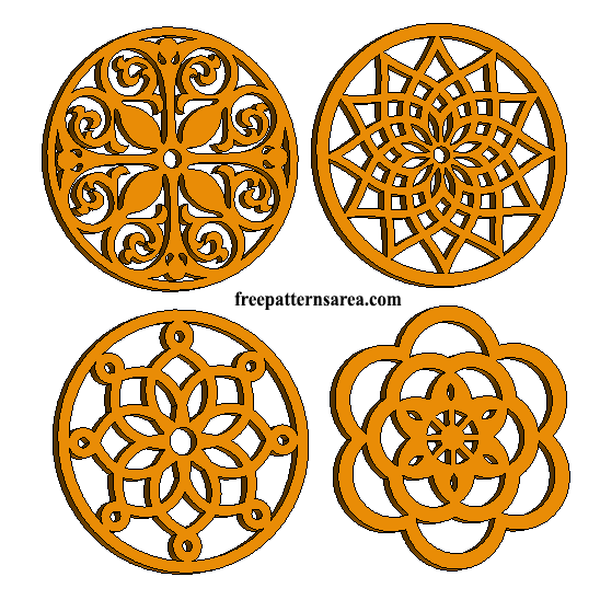 Laser Cut Wood Trivet Coaster Template