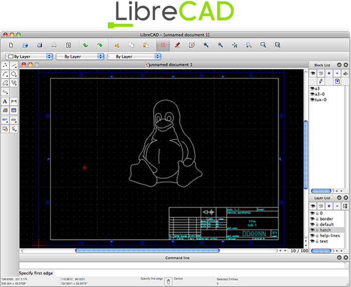 LibreCad Free 2D CAD Drawing Software