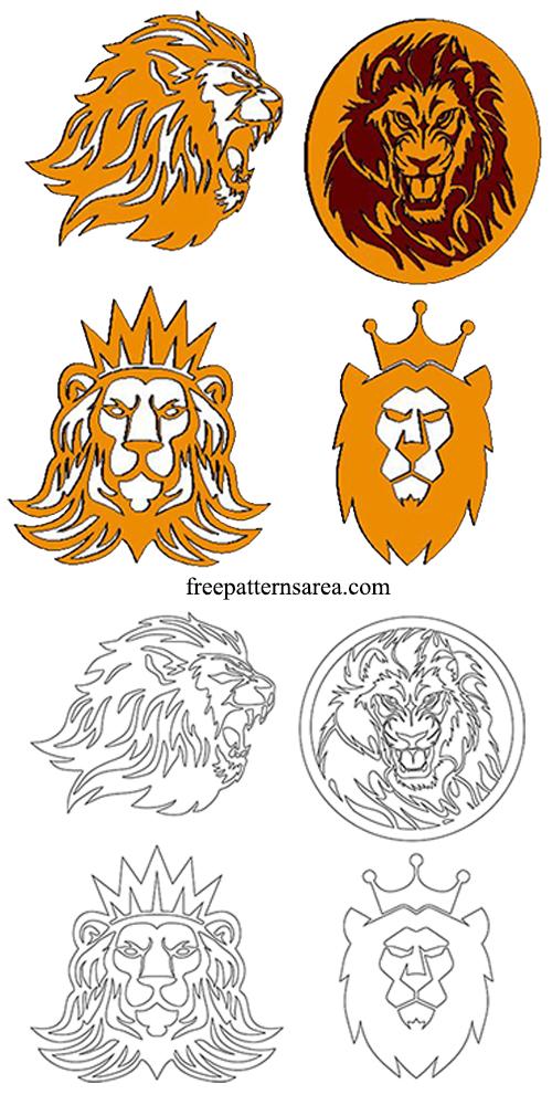 Lion Head Die Cut Out PDF Patterns