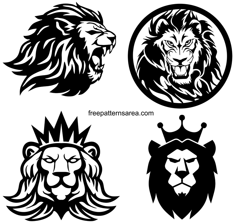 Tiger Scrol Saw Stencil Vector