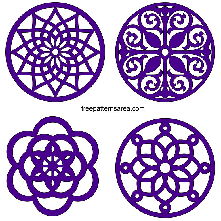 Round Coaster SVG Pattern Designs Free