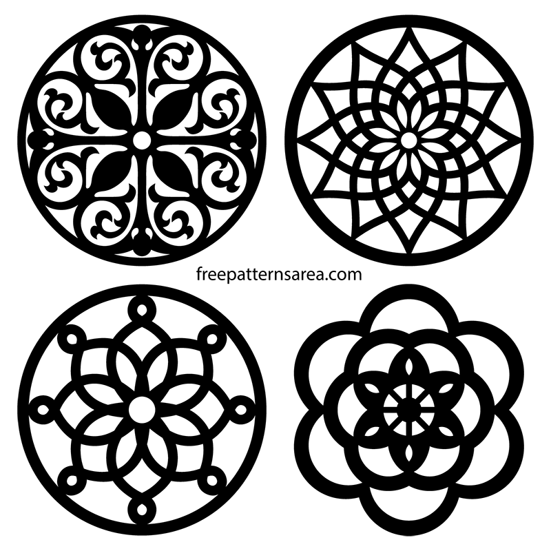 Scroll Saw Trivet Coaster Circle Vector Patterns