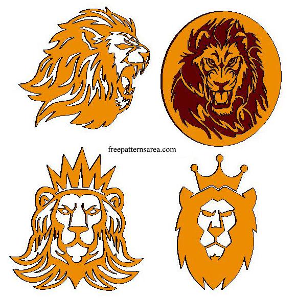 Wood Lion Head Laser Engraving Burning