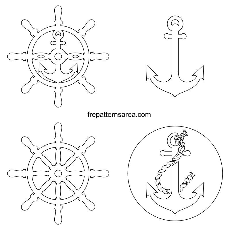 Printable Anchor Rudderc Cut Out Patterns