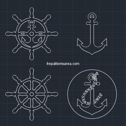 Anchor Rudder Dwg Dxf Autocad Files