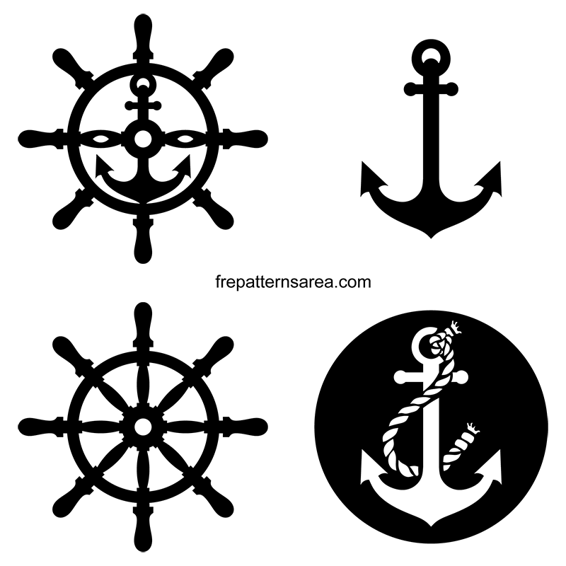 This is a picture of Lucrative Anchor Stencil Printable