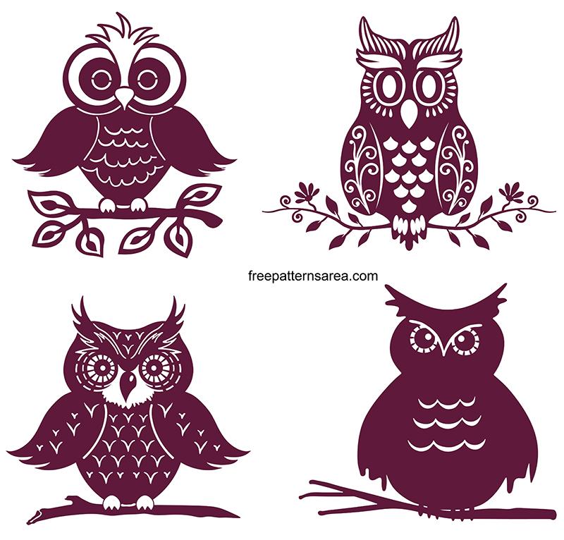 Free Owl Svg Cut File Design