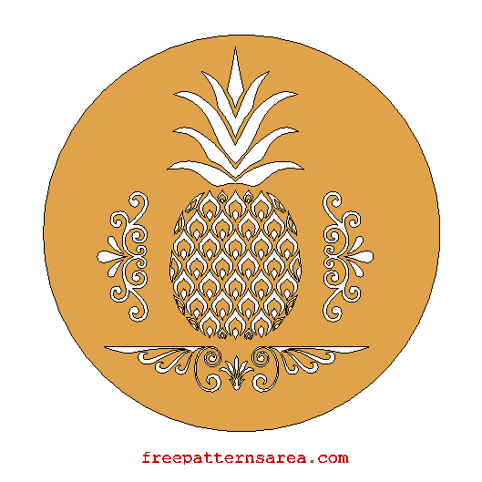 Free Pineapple Laser Cutting Files
