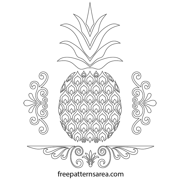 Free Pineapple Scroll Saw Pdf Template