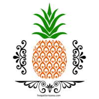 Free Pineapple Stencil SVG Art Cutting Files