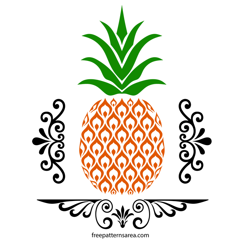 Free Pineapple SVG and Vector Images | FreePatternsArea