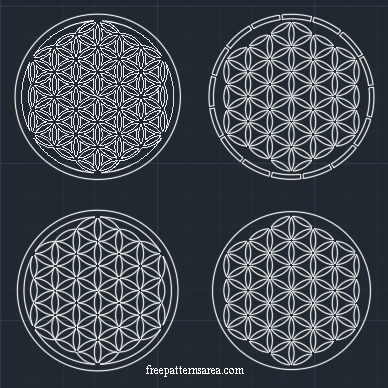 Geometry Flower Of Life Free dxf, dwg File
