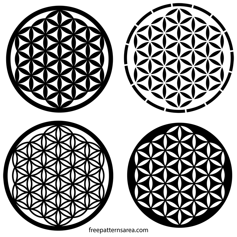 Sacred Geometry Symbol Flower of Life Free Vector Design
