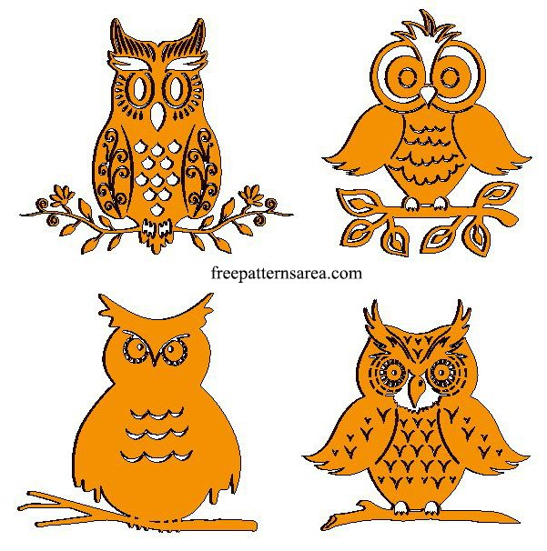 Owl Laser Cut Metal and Wooden Cutout Designs