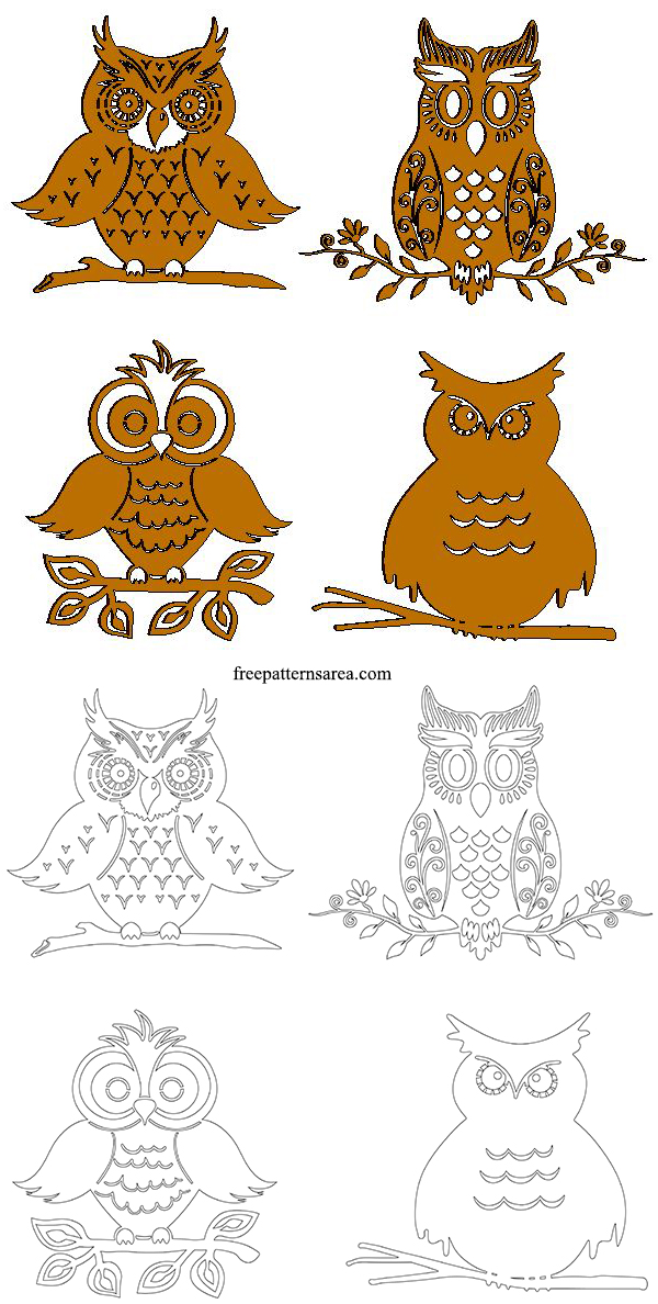 Owl Plasma Metal Cutout Designs