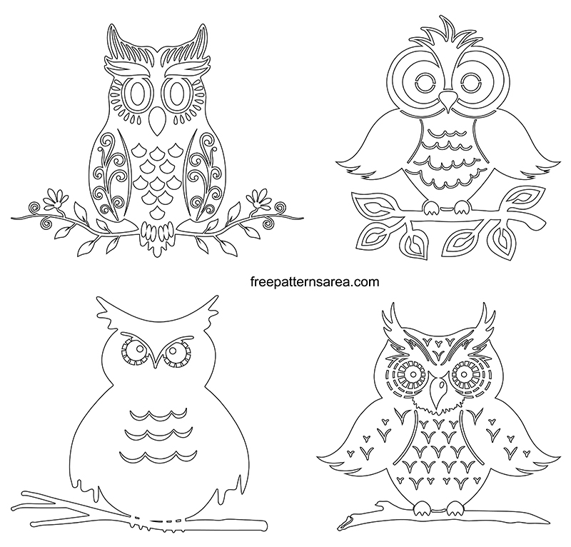 Printable Owl Outline Template