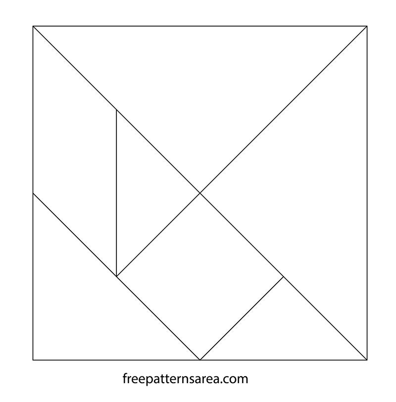 Printables Tangram Puzzle Outline PDF Template