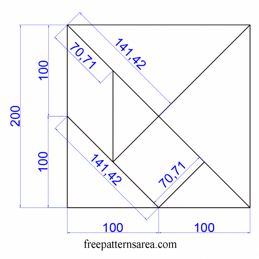 Tangram Patterns Dimensions