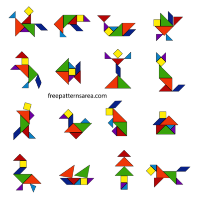 Tangram Puzzle Shapes Images Pictures