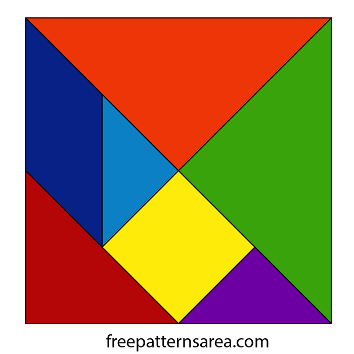 Tangram Square Vector