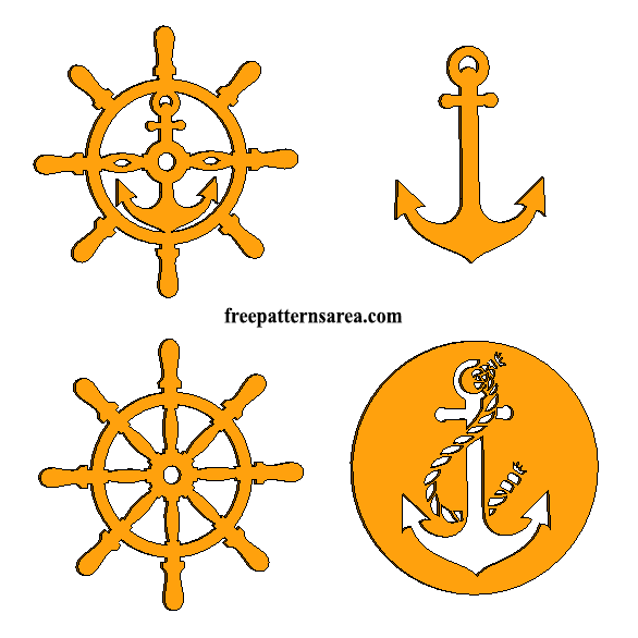 Laser Cut Anchor Rudder