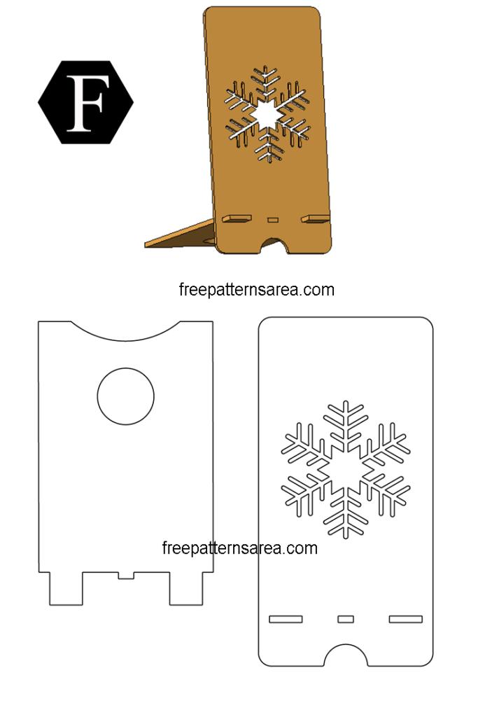 Wooden Phone Stand Desing Custom Laser Cuter Idea pdf